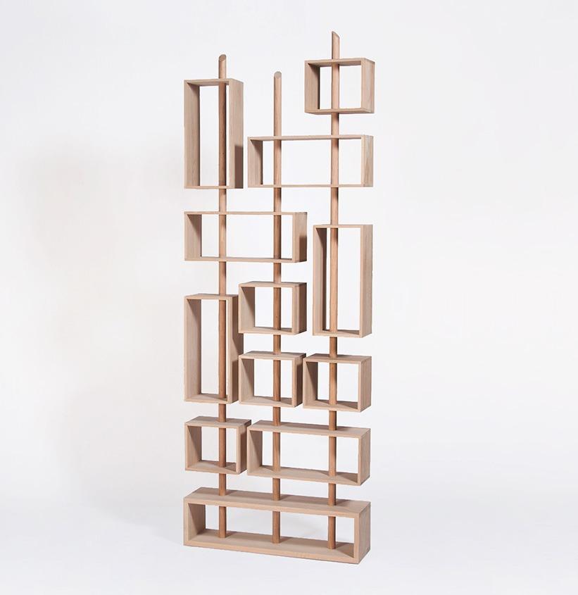 bibliotheque 3 mats modulable en bois design