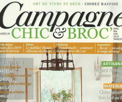 CAMPAGNE CHIC & BROC – Avril/Juin 2019