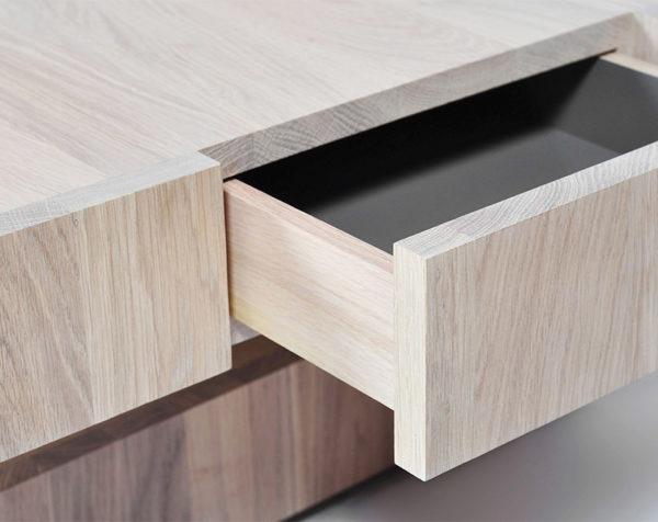 table basse cubocarre drugeot manufacture bois massif tiroir