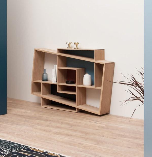 salon meuble étroit rangement décoration made in France - Drugeot