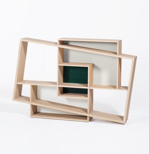 Console ISBOA Design Hugues WEILL en chêne meuble cubique