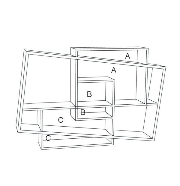 meuble console entrée bois chêne massif design scandinave