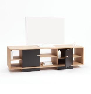 meuble tv ita drugeot nombreux rangements tiroirs niches