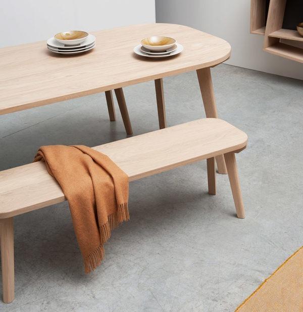 banc aronde minimaliste salle à manger style industriel fabriqué en France Drugeot