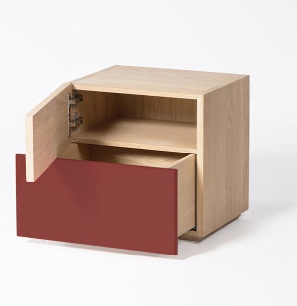 meuble design bout de canape tiroir push to open drugeot
