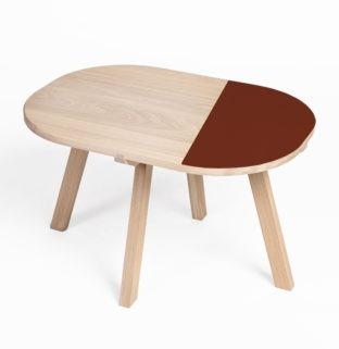 bout de canape en bois massif table de chevet ronde aronde