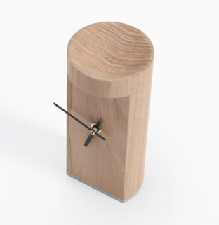 horloge carmen bois chene massif drugeot vue de dessus