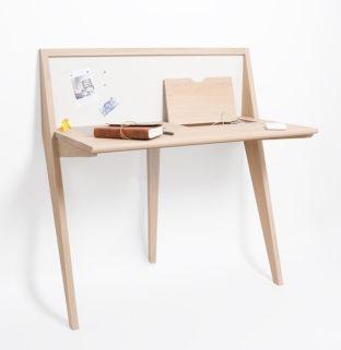Bureau étroit pour travail à la maison meuble en bois français - Drugeot