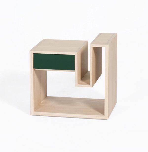 table de nuit Créneau bois massif tiroir made in France - Drugeot Manufacture