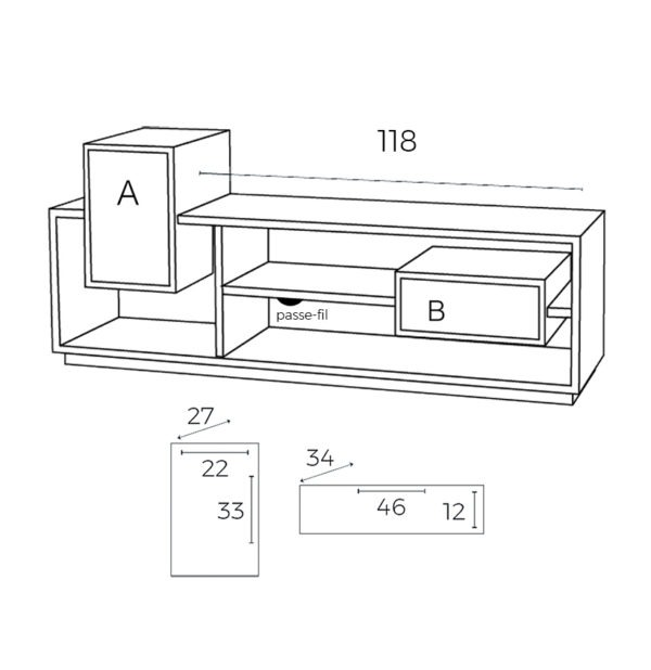 meuble tv mixage drugeot manufacture filaire
