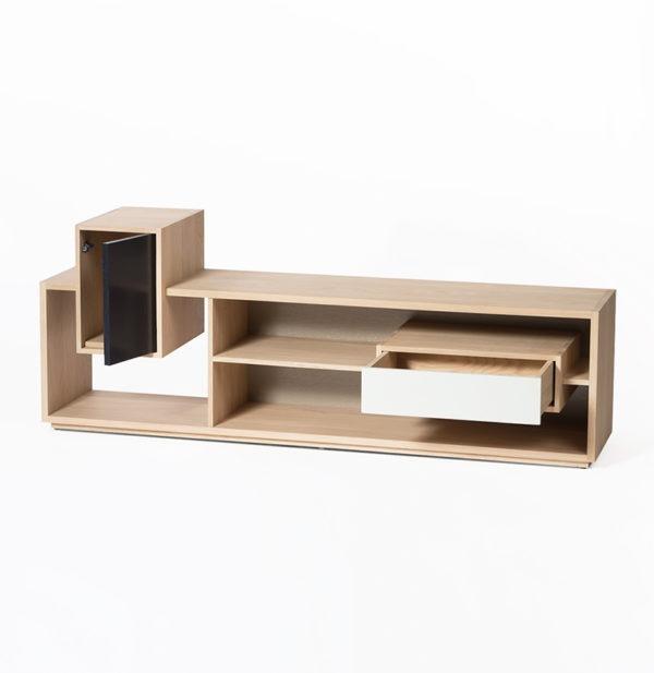 meuble tv mixage drugeot manufacture tiroir ouvert