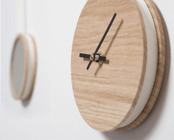 miroir pendule drugeot manufacture bois chene massif
