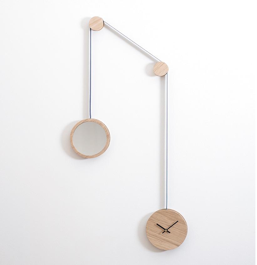 Horloge Murale Design Le Miroir Pendule De Drugeot Manufacture