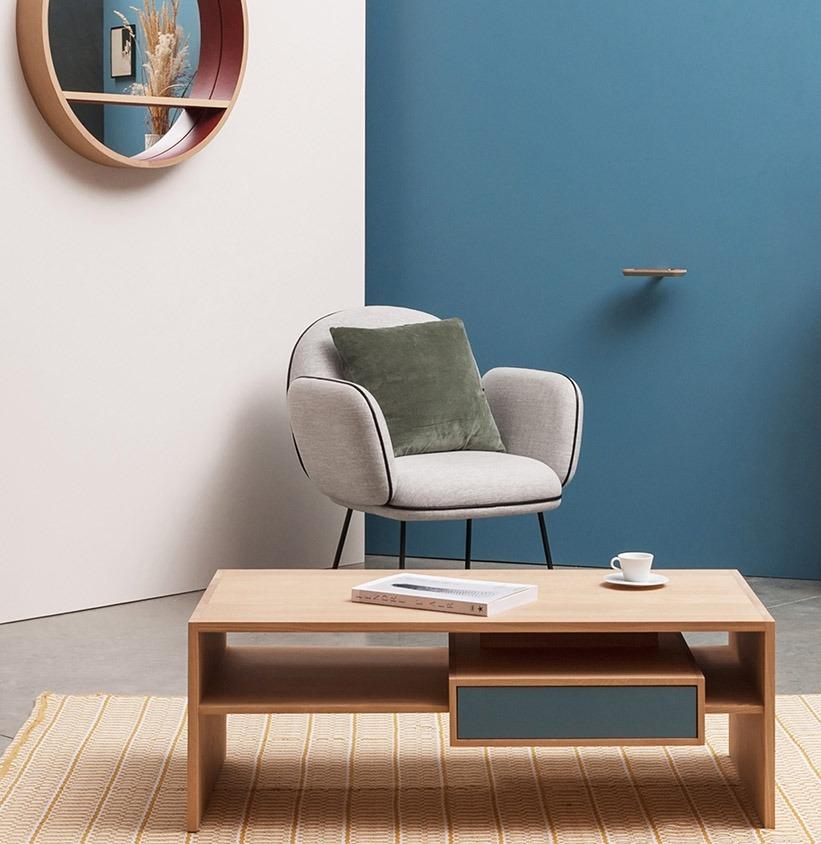 meuble en bois design meuble TV en chêne personnalisable fabrication française écoresponsable