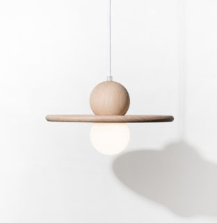 lampe nebuleuse suspension en bois