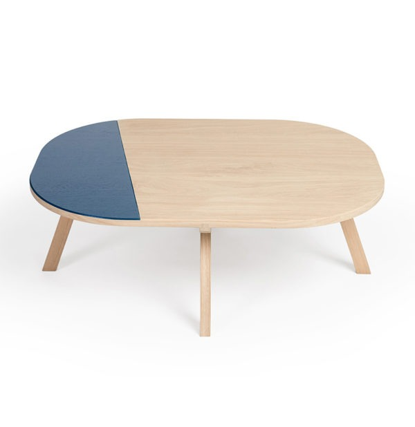 table basse aronde drugeot bois massif chene