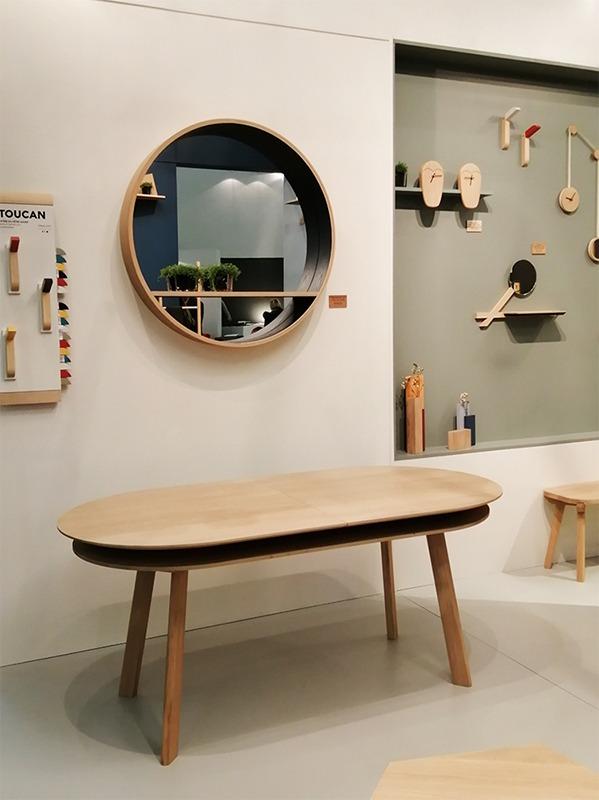 table silex et miroir console