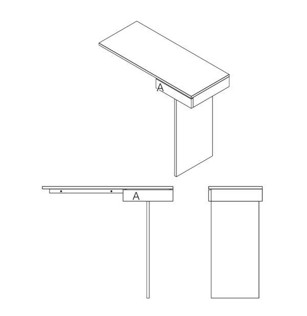 dessin architecture filaire 3D console TI - Drugeot Manufacture