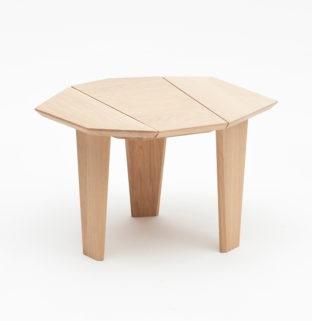 guéridon Silex table de chevet bois massif design