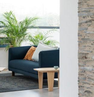 guéridon Silex ambiance table de chevet bois massif design