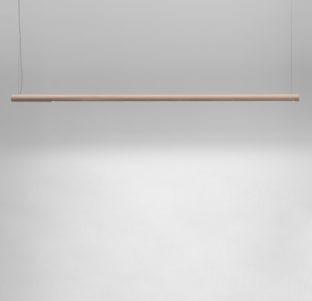 luminaire lustick allumé suspendu en bois deisgn