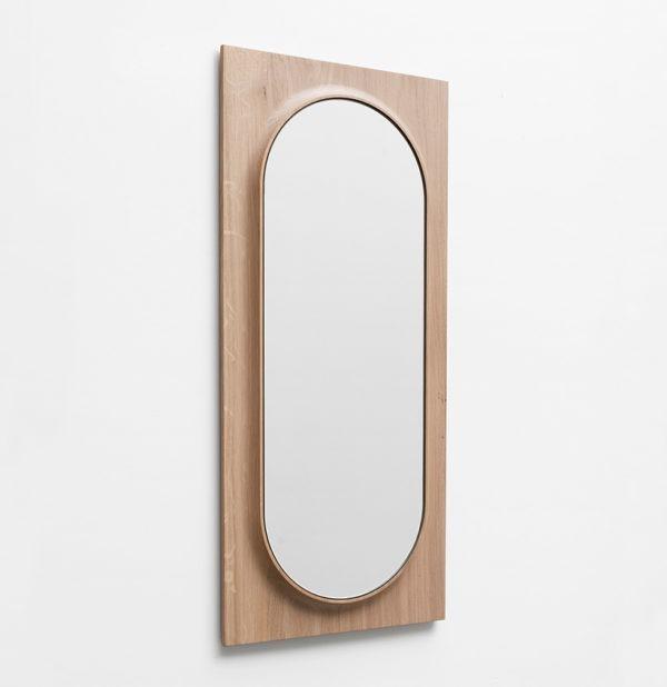 grand miroir bois circuit ovale