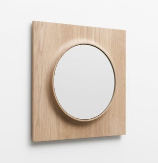 petit miroir circuit rond bois