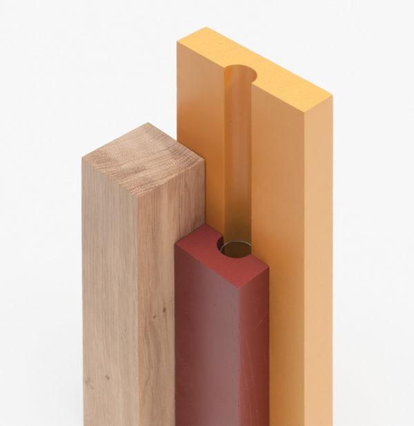 vase en bois soliflore