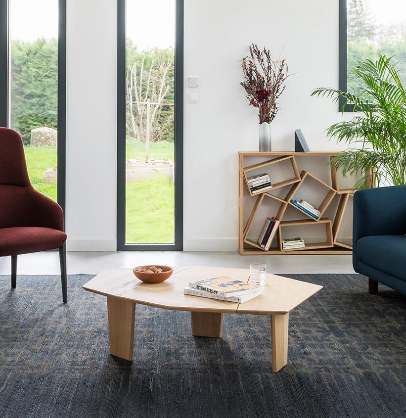 table basse design bois