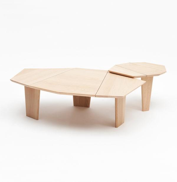 table basse gigogne Silex bois massif français mobilier design Drugeot