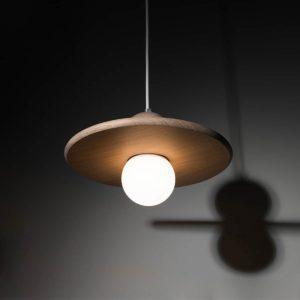 lampe Nébuleuse Drugeot manufacture allumée vue de dessous