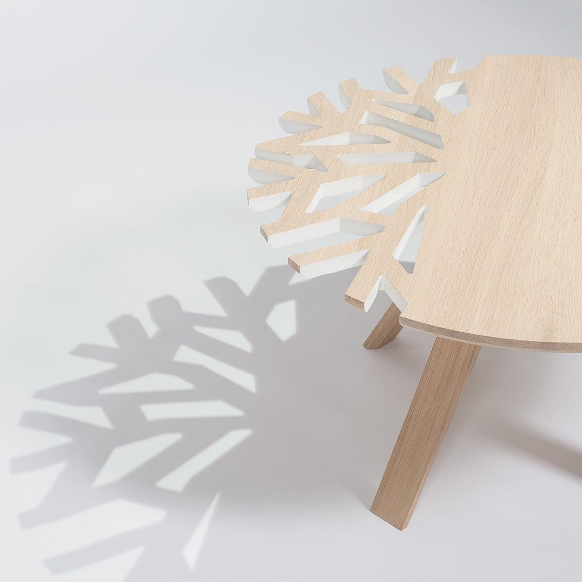 table basse Canopée en bois style minimaliste asiatique japandi
