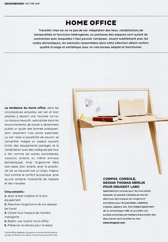 article magazine architectures à vivre home office drugeot manufacture