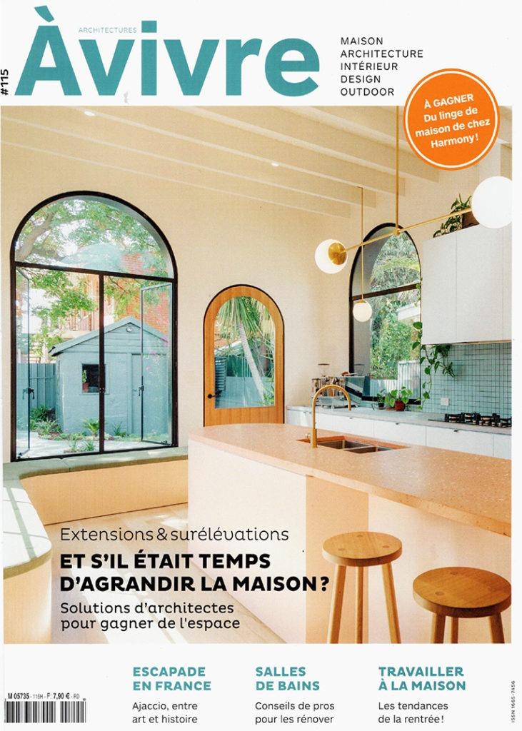 couverture magazine architectures à vivre design intérieur