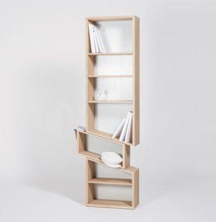 bibliothèque originale en bois massif fabriqué en France artisanat Slide Drugeot Manufacture