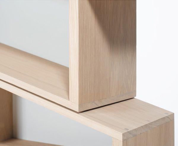 Bibliothèque avec rangement Slide Drugeot en bois chêne massif