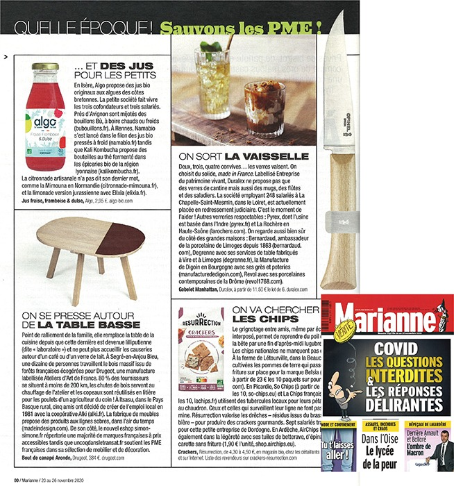 drugeot-manufacture-parution-presse-magazine-marianne-made-in-france-table-basse-bois-massif-aronde