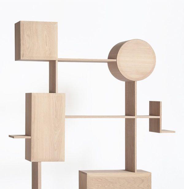 meuble en bois design contemporain rangement mural