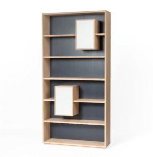 Bibliothèque Mixage 100 Drugeot Manufacture rangement tiroir blanc étagère noir