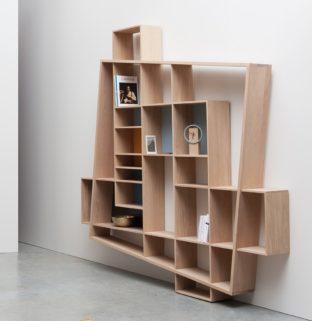 Bibliothèque design étroite longue grande haute architecte décorateur intérieur - Drugeot
