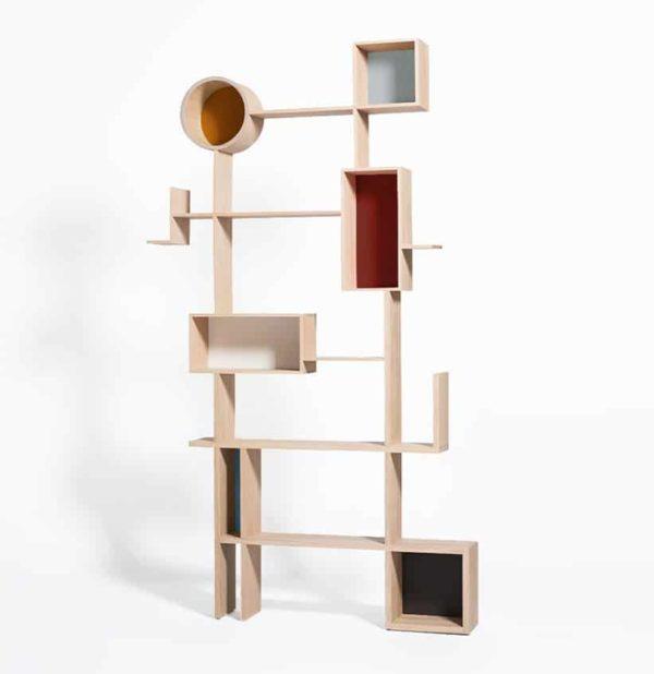 bibliothèque reso en bois massif déstructurée Drugeot Manufacture