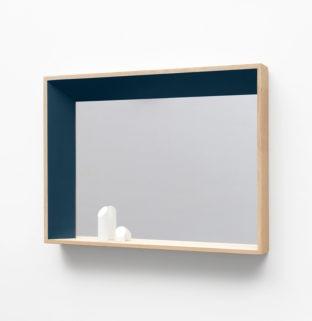 miroir rectangulaire design biso droit bleu lectoure