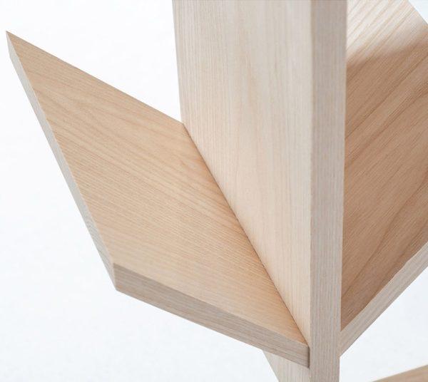 mobilier écoresponsable étagère bois chêne massif