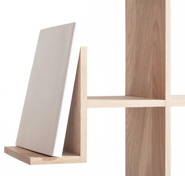 bibliothèque présentoir livre bois blanc style industriel - Drugeot meuble made in France