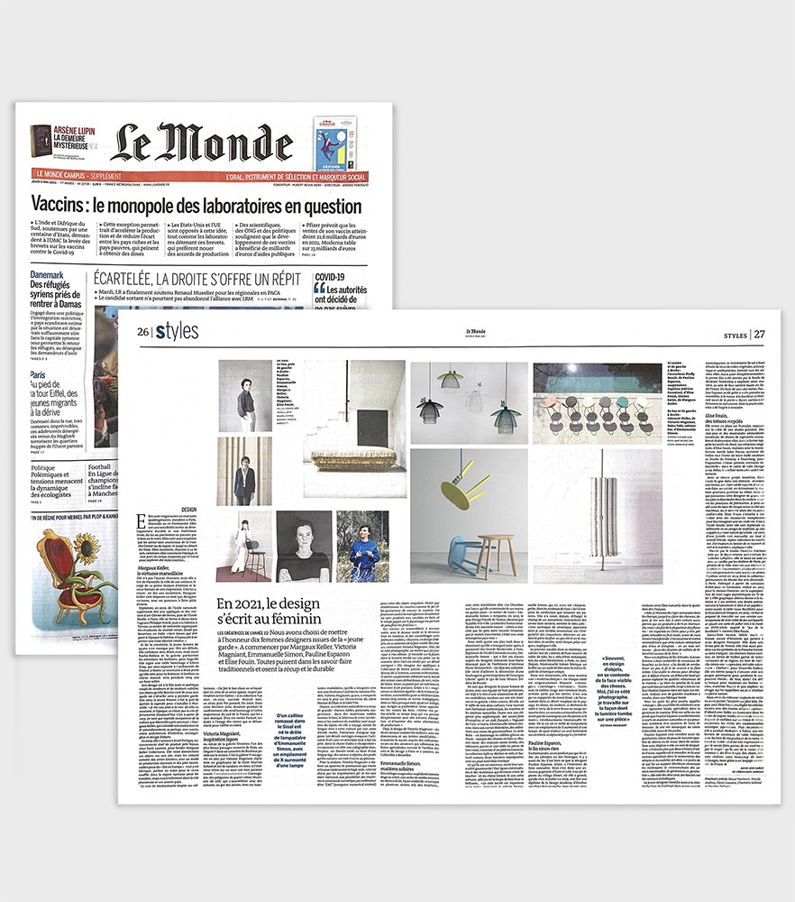 article presse du journal le monde le design au féminin créatrice de mobilier design contemporain iconique