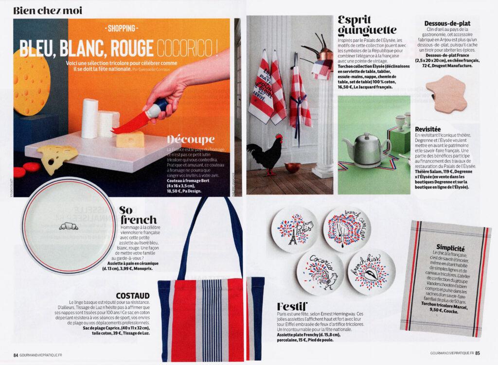 article magazine gourmand sélection d'article de cuisine made in france dessous de plat Drugeot