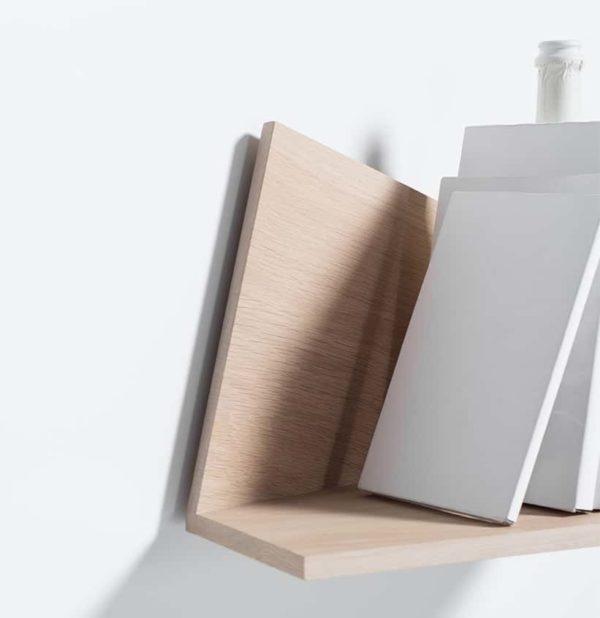 accessoire déco bois naturel rangement livre étagère originale décalée