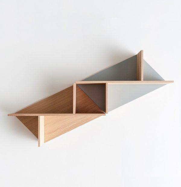 étagère modulable sur-mesure éco responsable mobilier style scandinave couleur personnalisable jeu triangle carré rangement insolite