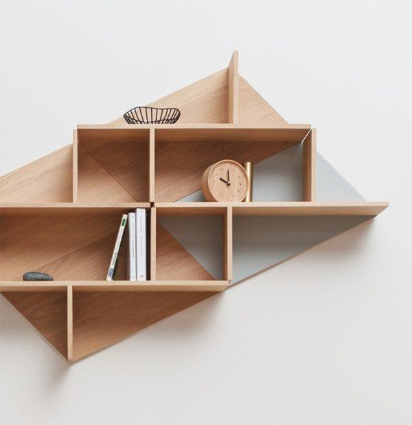 étagère murale rangemenet originale KIM jeu formes géométrique accessoire déco graphique style minimaliste