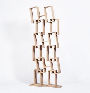 Grande bibliothèque en bois clair éco responsable double rangement - Kao Drugeot Manufacture